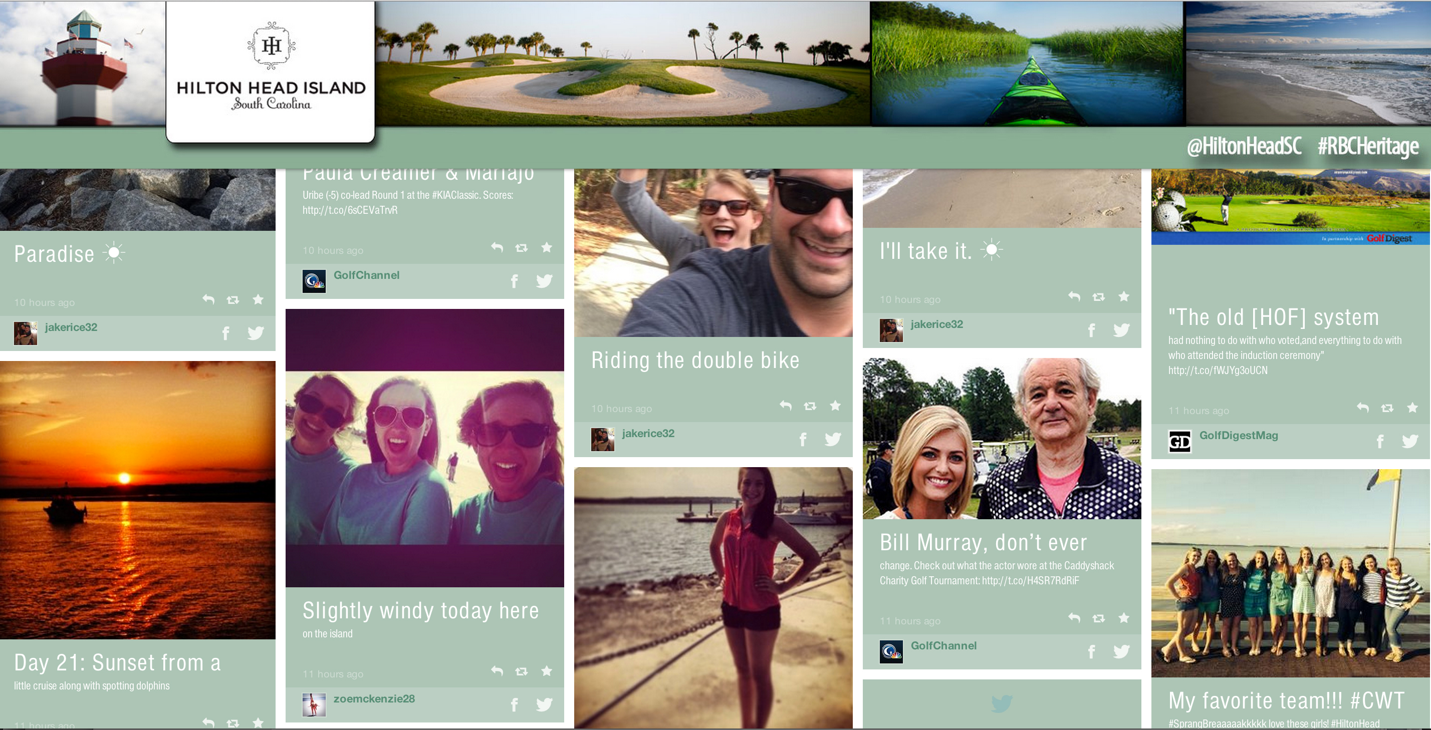 Social Media Aggregation Walls by Laura Kerbyson